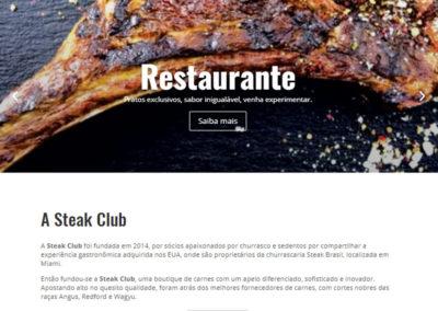 Criação de Site | Steak Club