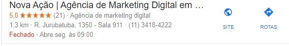 Sua nota no Google Meu Negócio é tão importante quanto o número de avaliações.