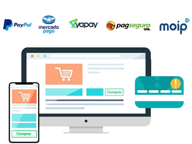 Meios de pagamentos de Loja Virtual - Criação de Loja Virtual